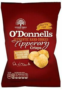 O' Donnells Mature Irish Cheese and Red Onion Flavour Crisps 7 x 50g packs