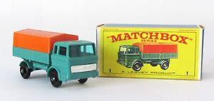 Vintage Lesney Matchbox #1 Mercedes Truck Regular Wheel NEAR MINT ORIGINAL BOX