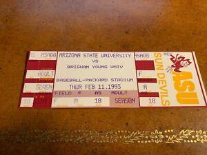 1993 Arizona State Sun Devils BYU Cougars Full Baseball Ticket Paul Lo Duca 2/11
