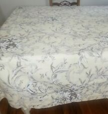 Zina Vasi Large Tablecloth 70 x 108 Floral Pale Yellow Cream Brown