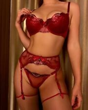 ❤️❣️ BRAND NEW Honey Birdette Penelope Red Suspender Size Small❣️❤️