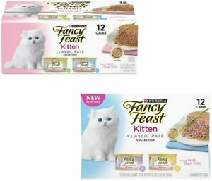 Purina Fancy Feast Kitten Variety Classic Pate Wet Cat Food 3-3oz Cans