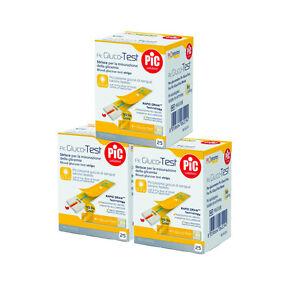 Strisce per misurazione glicemia Pic - Promo 75 strisce glicemia 3 x 25 pz