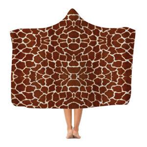 Giraffe Print - Hooded Blanket