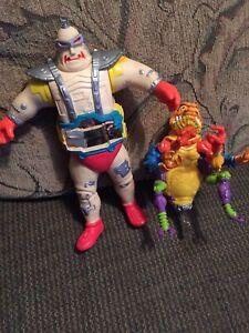 vintage TMNT action figure lot,Ninja Turtles,killer bee, Krang, playmates