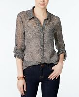Tommy Hilfiger Women's Long-Sleeve Printed Shirt Size S