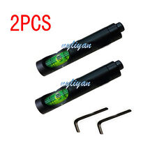 2X Metal Spirit Bubble Level fit 20mm Picatinny Rail for Rifle Scope Sight Hunt