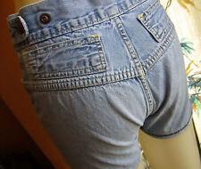 "23"" Waist True Vtg 70s Sz 5 K-MART Denim Hot DISCO womens SHORT SHORTS"