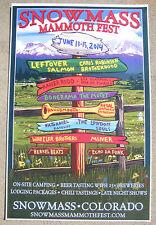 Snowmass MAMMOTH FEST 2014 Colorado Festival Poster Les Claypool, Chris Robinson