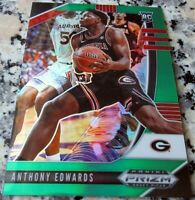 ANTHONY EDWARDS 2020 Prizm GREEN #1 Draft Pick Rookie Card RC Logo SP HOT $$$