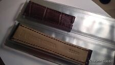 Genuine Rolex band 20x16mm BROWN/Purple ALLIGATOR short C1103A.02 NEW