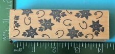 ORNAMENTAL STAR FLOWERS 2 Border Rubber Stamp by Hero Arts