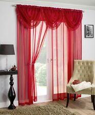 Red Tassel Fringe Swag Savannah Sparkle Bling Voile Net Curtain Swag Single