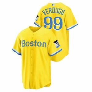 Men's Boston Red Sox #99 Alex Verdugo Replica 2021 City Connect Jersey S-5XL