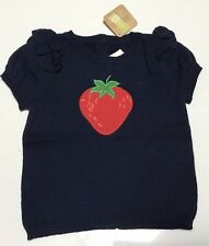 NWT Crazy 8 Knitted Top With Strawberries Size18-24 and3T