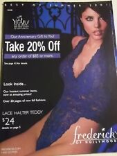 Fredericks of Hollywood Best of Summer 2001 Summer SEXY Lace Halter Teddy LOOK