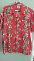 Sz XL Men's VINTAGE 50s 60s style HAWAII Label Aloha Shirt Vintage Surf Boards