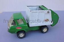 P325 Ancien camion TONKA poubelle eboueur collecte dechets vert blanc