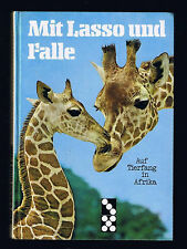 Auf Tierfang in AFRIKA DOMINO Kinderbuch MIT LASSO UND FALLE Gronefeld 1974 TOP