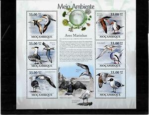 Briefmarken -Mosambik -Vogel -Bogen -2010