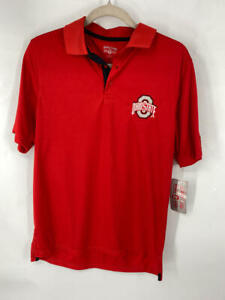 Scarlet & Gray Men's Ohio State Buckeyes Polo SHIRT/RED/SMALL