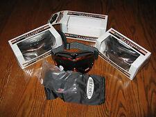 Holeshot Raptor ATV Motocross Offroad Ski Goggles Black New in Box with 2 lenses
