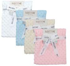 Newborn Infant Baby Boy Girl Soft Fleece Bubble Blanket Comforter Wrap Pram New