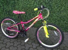 """Girls junior mountain bike 24"""" wheel and 21 gear with front suspension"""