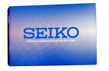 Seiko Blue European Guarantee & Instructions Book Brand New Original Authentic
