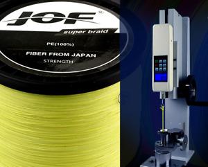 JOF100M Yellow PE Braided Wire 4 Strands Multifilament Japanese fishing line