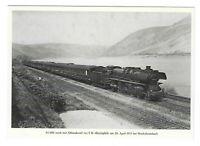 AK, Niederheimbach bei Bingen, Lok, 03 1001, Rhein, Gleise,