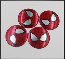 4Pcs 56.5mm Spider-Man Logo Car Wheel Center Hub Cap Decal Emblem Stickers