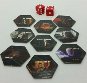 Risk Star Wars Clone Wars Edition Replacement Separatist Tokens Dice Game Pieces