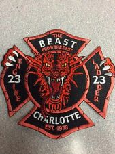 Charlotte, NC Firehouse #23 patch E23/L23 Beast from the East
