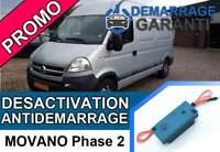 Clé de désactivation d'anti démarrage Opel MOVANO PHASE 2