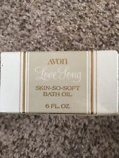 Vintage Bottle Avon Skin so soft bath oil Love Long 6 Fl Oz