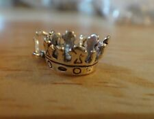 Sterling Silver 3D 13x11mm Crown Princess Queen Homecoming Charm