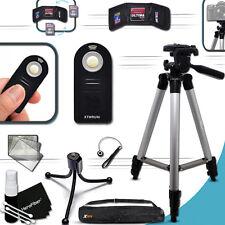 """Durable 60"""" inch TRIPOD + Camera REMOTE f/ Nikon Fuji and Canon DLSR Cameras"""