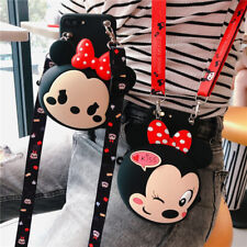 Hot Crossbody Minnie Wallet Cute Cartoon Coin Purse Case Cover For Various Phone