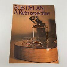 Bob Dylan - A Retrospective, 1973 Music Book