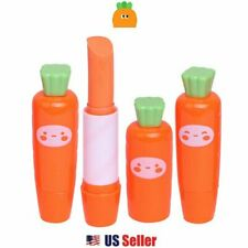 Carrot Vegetable Mini Portable Lipstick Shape Soft Eraser (1pc) : Random