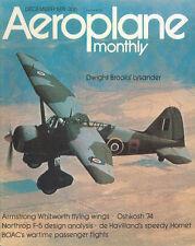 AEROPLANE MONTHLY DEC 74 F-5A F-5E_WW2 BOAC_AW FLYING WINGS_DH HORNET RAF_CR.42