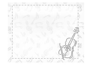 Violin Viola novelty music themed mini sticky notepad notebook 40pg 9cm X 7.2cm