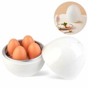 Microwave Egg Steamer Boiler Cooker Easy Quick 5 Minutes Hard Or Soft Boiled