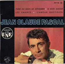 JEAN-CLAUDE PASCAL PARIS AU MOIS DE SEPTEMBRE FRENCH ORIG EP LEO CHAULIAC