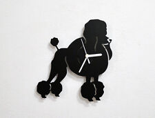 Poodle Dog 1 Silhouette - Wall Clock