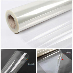 2Mil Safety&Security Window Sticker Clear Glass Protection 90% UV Rejection Film