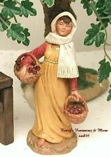 "FONTANINI DEPOSE ITALY 5"" MORIAH NATIVITY VILLAGE FIG LADY FIGURE 54006 NIB"