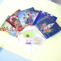 Christmas Diamond Painting Greeting Card Kits DIY Handmade Cartoon Xmas Gift Kid
