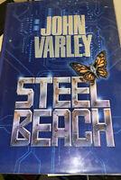 John Varley--STEEL BEACH 1st ed 1st ptg HCDJ 1992 Signed